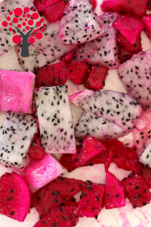 Dragon fruit pieces